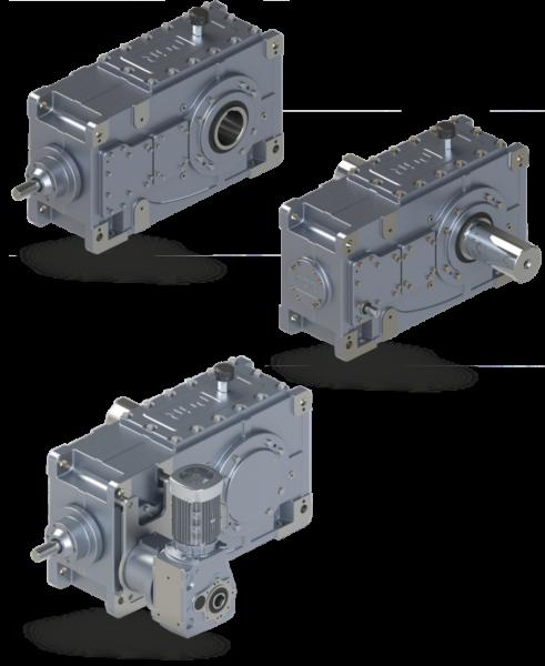 Индустриальные цилиндрические редукторы, мотор-редукторы для тяжелых нагрузок